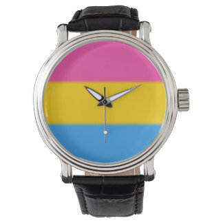 Falln Pansexual Pride Flag Wristwatches