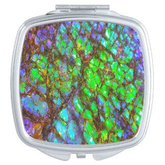 Falln Peacock Ammolite Mirrors For Makeup