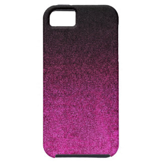 Falln Pink & Black Glitter Gradient Case For The iPhone 5