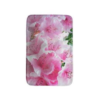 Falln Pink Floral Blossoms Bath Mat