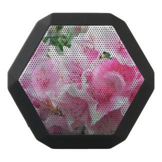 Falln Pink Floral Blossoms Black Bluetooth Speaker