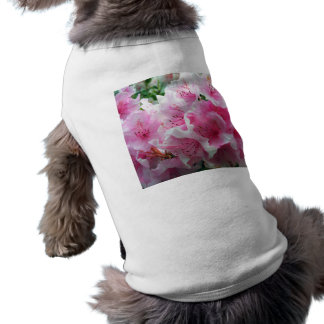 Falln Pink Floral Blossoms Doggie Tshirt