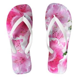 Falln Pink Floral Blossoms Flip Flops