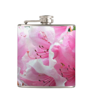 Falln Pink Floral Blossoms Hip Flask
