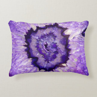 Falln Purple Agate Geode Accent Pillow