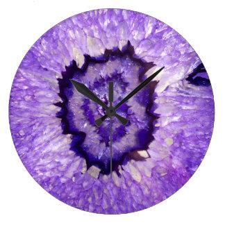 Falln Purple Agate Geode Large Clock