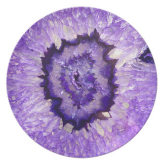 Falln Purple Agate Geode Plate
