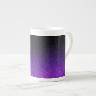 Falln Purple & Black Glitter Gradient Tea Cup
