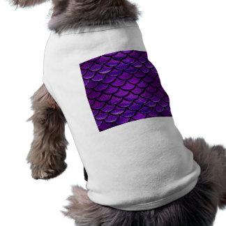 Falln Purple & Blue Mermaid Scales Doggie T-shirt