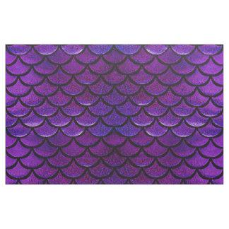 Falln Purple & Blue Mermaid Scales Fabric