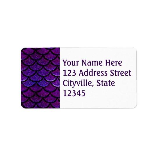 Falln Purple & Blue Mermaid Scales Label