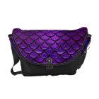 Falln Purple & Blue Mermaid Scales Messenger Bag