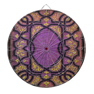 Falln Purple & Gold Vines Book Cover Dartboard