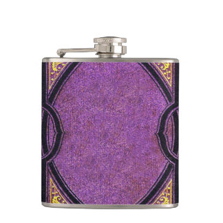 Falln Purple & Gold Vines Book Cover Flasks