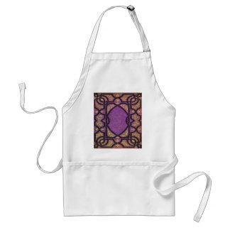 Falln Purple & Gold Vines Book Cover Standard Apron