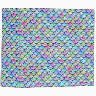 Falln Rainbow Bubble Mermaid Scales 3 Ring Binder