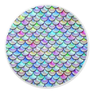 Falln Rainbow Bubble Mermaid Scales Ceramic Knob