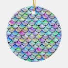 Falln Rainbow Bubble Mermaid Scales Ceramic Ornament
