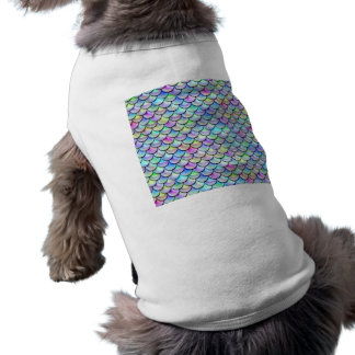 Falln Rainbow Bubble Mermaid Scales Doggie T-shirt
