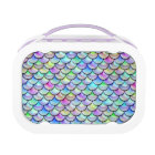 Falln Rainbow Bubble Mermaid Scales Lunch Box