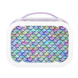 Falln Rainbow Bubble Mermaid Scales Lunch Box