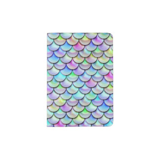 Falln Rainbow Bubble Mermaid Scales Passport Holder