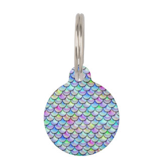 Falln Rainbow Bubble Mermaid Scales Pet Tag