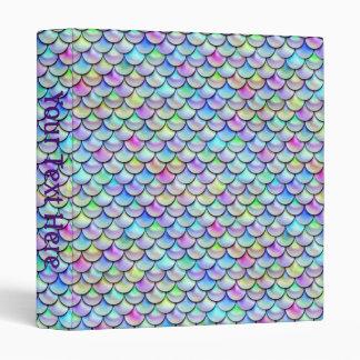 Falln Rainbow Bubble Mermaid Scales Vinyl Binders