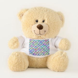 Falln Rainbow Bubble Scales Teddy Bear