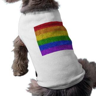Falln Rainbow Glitter Gradient Doggie Tee