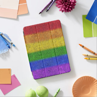 Falln Rainbow Glitter Gradient iPad Air Cover
