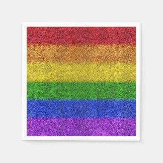 Falln Rainbow Glitter Gradient Paper Napkins
