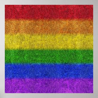 Falln Rainbow Glitter Gradient Poster