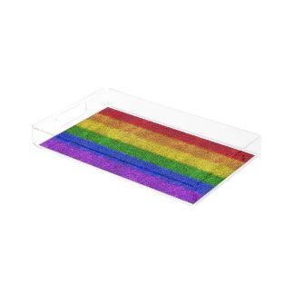 Falln Rainbow Glitter Gradient Serving Tray
