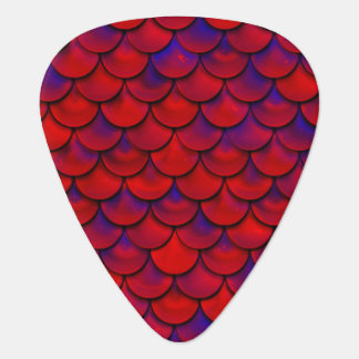 Falln Red and Purple Scales Guitar Pick