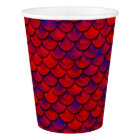 Falln Red and Purple Scales Paper Cup