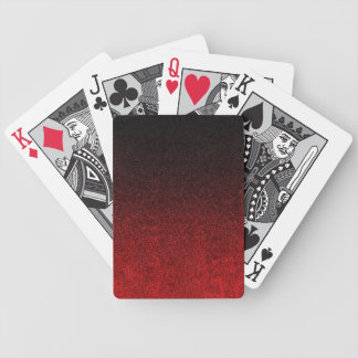 Falln Red & Black Glitter Gradient Bicycle Playing Cards
