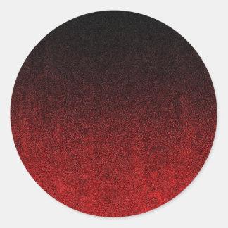 Falln Red & Black Glitter Gradient Round Sticker