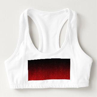 Falln Red & Black Glitter Gradient Sports Bra