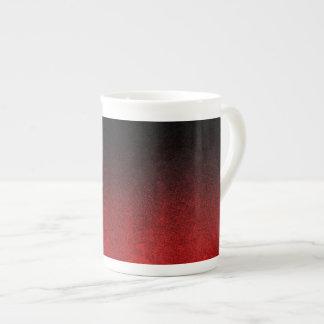 Falln Red & Black Glitter Gradient Tea Cup