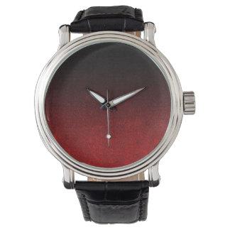 Falln Red & Black Glitter Gradient Watches