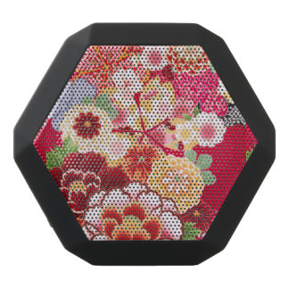 Falln Red Floral Burst Black Bluetooth Speaker