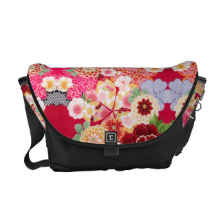 Falln Red Floral Burst Commuter Bag