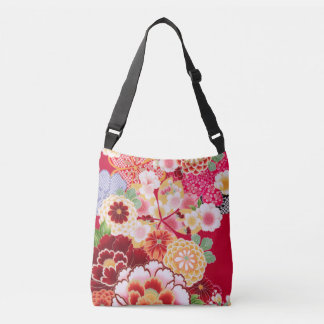 Falln Red Floral Burst Crossbody Bag