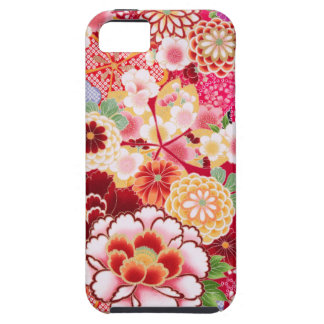 Falln Red Floral Burst iPhone 5 Covers
