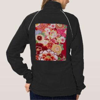 Falln Red Floral Burst Jacket