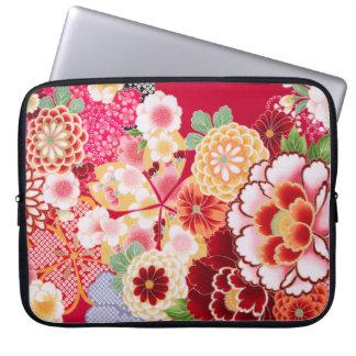Falln Red Floral Burst Laptop Sleeve