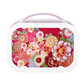 Falln Red Floral Burst Lunch Box