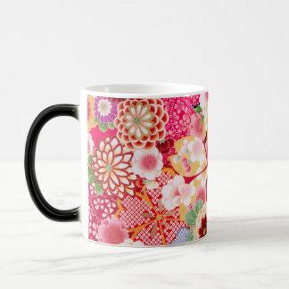 Falln Red Floral Burst Magic Mug