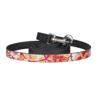 Falln Red Floral Burst Pet Leash